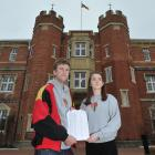 Selwyn College students association president Jimmy Anderson and former resident Sophie Cawood...