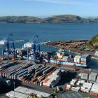 Leda Maersk at Port Chalmers last year. PHOTO: ODT FILES