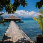 Fatboys Resort on Mbambanga Island is built over deep water to accommodate boats and to protect...
