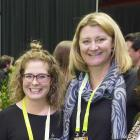 Taking part in the discussion then were (from left) HortNZ policy analyst Eve Williams and HortNZ...