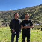 Cromwell's Wild Earth Wines' marketing and sales manager Elbert Jolink (left) and owner and...