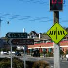 The electronic ''your speed'' indicator sign, recently installed by Port Otago, warns motorists...