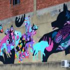 Mica Still's dog mural on Stafford St. Who knew? Photo: Gerard O'Brien