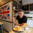 Sutton and Sons vegan fish and chip restaurant owner Daniel Sutton. Photo: Reuters