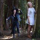 Anna Langford (left) and Hayley Lyndon have been cast as the witches for Musical Theatre Dunedin...