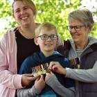 Former New Zealand Defence Force nurse Kelly Morrissey (left) attends the Armistice Day service...