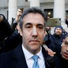 Michael Cohen exits Federal Court after entering a guilty plea in Manhattan. Photo Reuters