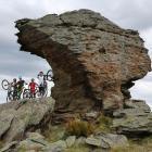 Central Otago mountainbikers (from left) Ben Wearing, Thomas Begg, Cam Moir and Felix Schaap...
