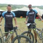 Tim O'Leary (left), of Queenstown, and Shaun Portegys, of Alexandra, after yesterday's stage...