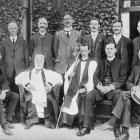 The committee of the new Anglican memorial home for boys, Vauxhall. Back row (from left): Dr...