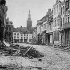 A street scene in Armentieres, a town well-known to New Zealand soldiers,who took part in some...