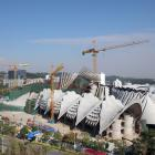 The Van Brandenburg-designed building under construction in Shenzhen. Photos: Supplied