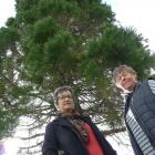 Balclutha residents Maxine Evans (left) and Lorraine Pringle pictured by Christie St playground....