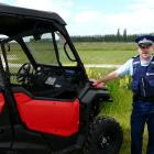 Sergeant Robin Hutton, of Balclutha, says easy-to-steal farm vehicles like this side-by-side...