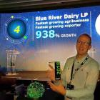 Blue River Dairy general manager Robert Boekhout accepts the Deloitte Fast 50 award for being New...