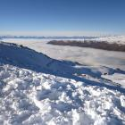An inversion layer of cloud sat below us between a cone of mountains. Photos: Supplied