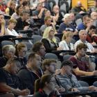 Part of the audience attending the Connecting Coaches: Coaching Young Athletes in a Changing...