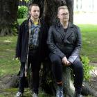Shaun Swain (left) and Jordan Dickson have been accepted into an Auckland course for theatre...