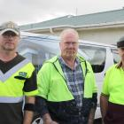 The Brumby Builders team (from left) builder Gary Ward, painter Dave Webster and builder Russell...