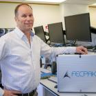 Techion founder and managing director Greg Mirams with one of the FECPAK G2 units being used...