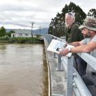 Henley residents Allan Innes (left) and Jay MacLean have been battling the Otago Regional Council...