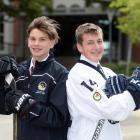 John McGlashan College pupils Billy Sheard (16), left, and Padraig MacKenzie (18) will represent...