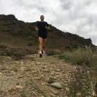 Daniel Balchin trains in Alexandra this week  for today's Queenstown Marathon. Photo: Supplied