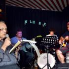 Veteran jazz musician Jack Allpress provides the vocals at the Inch Bar, Dunedin, backed by band...