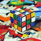 South Otago High School art pupil Kate Stewart's drawing of a Rubik's cube on top of a comic book...
