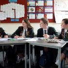 Kaikorai Valley College pupils (from left) Cam Hall (18), Samara Marks (18), Eddie Bernhardt (16...