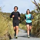Lee and Alyce Allan train  on Flagstaff in preparation  for the  two-person team section of the ...