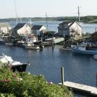 Boats dock in the tiny fishing village of Menemsha on Martha's Vineyard. Photo: Heather Goff