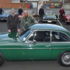 MGC-GT owners Ross Osborne (left), of Mosgiel, and New Zealand MGC Register secretary and...