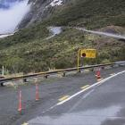 The Milford Road (SH94) was closed from yesterday. Photo: Milford Road Alliance