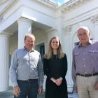 Central Otago Heritage Trust chairman David Ritchie (left), co-ordinator Alice Spiers and past...