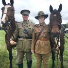 New Zealand Mounted Rifles Charitable Trust president Mark Appleton  with Kruz  and trust rider...