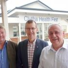 Clutha Health First operators (from left) Clutha Health Incorporated chairman Hamish Anderson,...