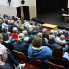 About 180 people attended a meeting at the Waitaki Boys' High School auditorium on Wednesday to...
