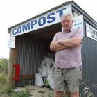 Derek Beveridge, 26 Squadron Air Training Corps unit commander, at the squadron's compost stall,...
