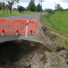 A culvert appears to have collapsed in Westview Dr, Weston, creating a hole in the road. Photo:...