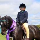 Ruby Cameron  rides champion Welsh pony Ka Arohaina Heartthrob at the 2018 West Otago A & P...