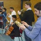 Members of the Dunedin Symphony Orchestra (from left) Olive Butler, Feby Idrus, Jonty Schmidt,...