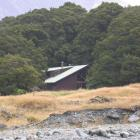 The Otago Boys' High School lodge in the  Matukituki Valley where pupils have been stranded by...