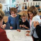 Hawea Flat School teacher Kate Bodger (left), Finn Eyers, Louis Eyers, Briana Joyce and Kathy...