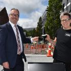 Precinct Food owners Steve and Liz Christensen say the Dunedin City Council's proposed parking...