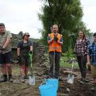 The team of archaeologists working on an Arrowtown Golf Club site comprises (from left) Oliver...