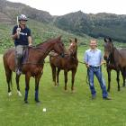 Queenstown Polo manager Rob Watson, on horseback, and developer Jonathan Gabler at the Malaghans...