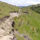 Damage from the Kaikoura quake. Photo: ODT files