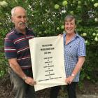 Peter and Stephanie McCullough with the ancestral line of Wattle Park owners. Photos: Chris Tobin