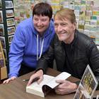 Dunedin Lee Child fan Lauren Batten gets a book signed by her favourite author. Photo: Gerard O...